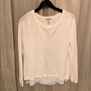 H&M tulip back blouse and sweater 2-in-1